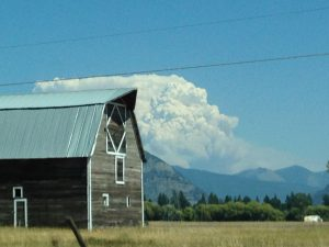 Glacier fire 3 Aug15
